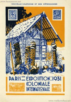 1931 Exposition Nationale Coloniale - AdCEP - Nouvelle-Caledonie et ses Dependances