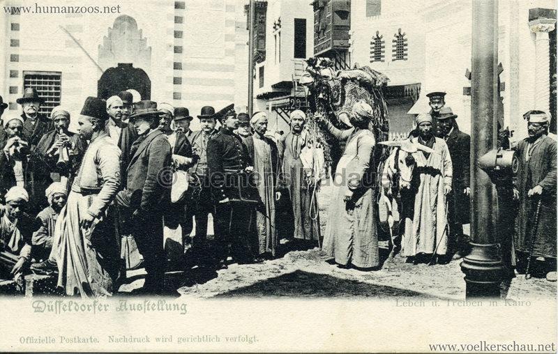 1902 Industrie- & Gewerbeausstellung Düsseldorf - Leben u Treiben in Kairo