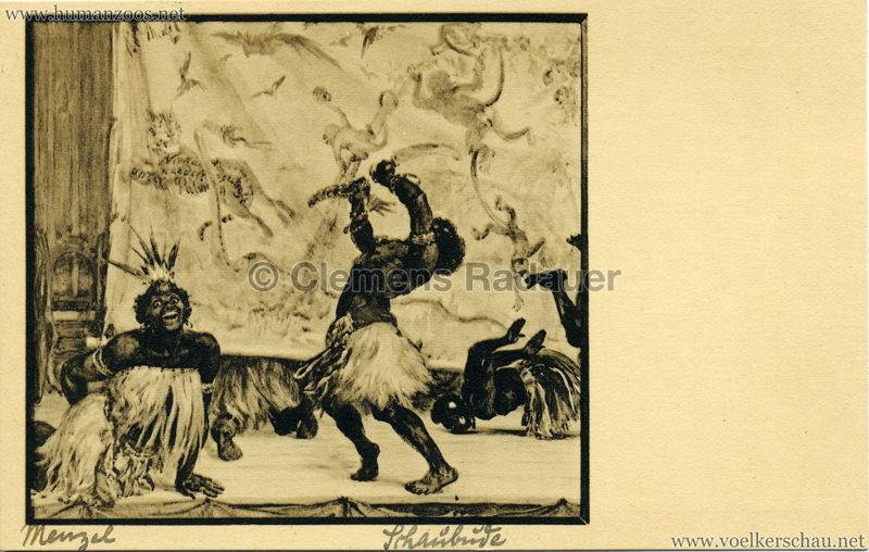 Die Schaubude:Zulus - Adolph von Menzel (Kunsthalle Hamburg)