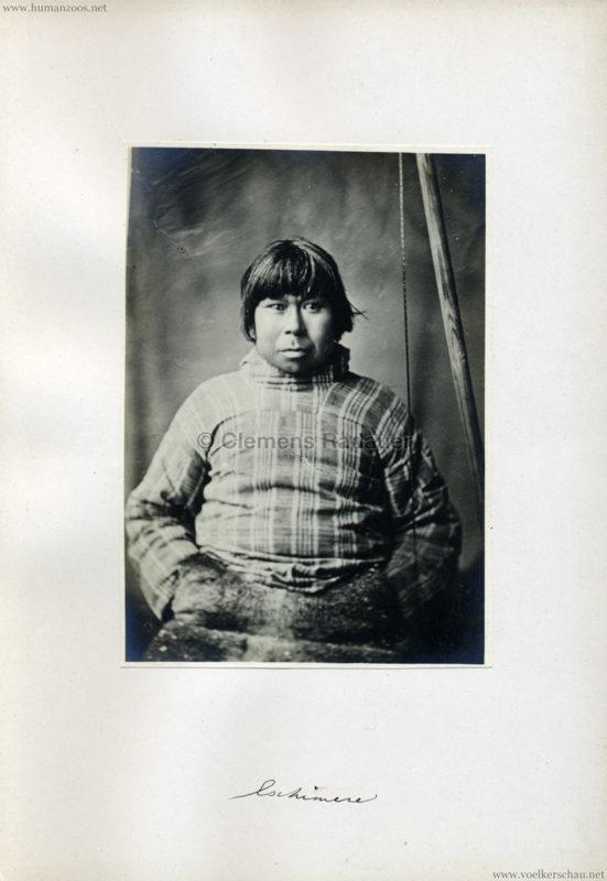 1878 Jardin Zoologique d'Acclimatation Eskimo FOTO