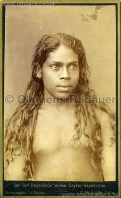1884:1885 Singhalesen der Hagenbeck'schen Ceylon-Expedition Wien 2