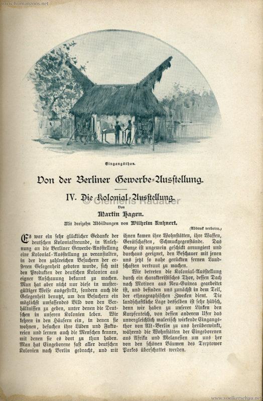 1896 Velhagen & Klasings Monatshefte - Gewerbe Ausstellung Berlin S. 105