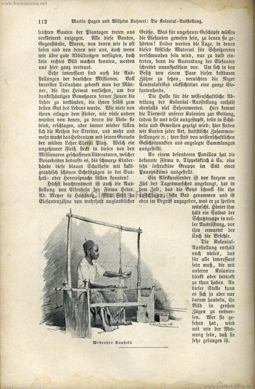 1896 Velhagen & Klasings Monatshefte - Gewerbe Ausstellung Berlin S. 112