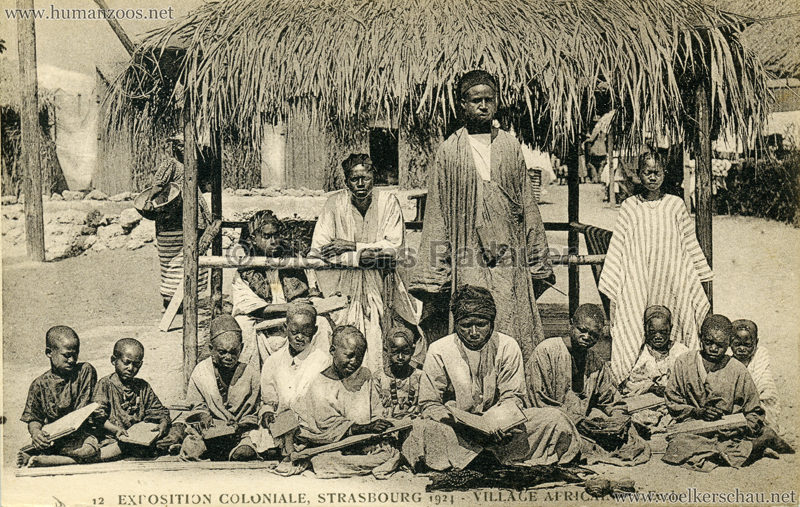 1924 Exposition Coloniale Strasbourg - Village Africain - 12. L'Ecole