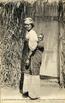1924 Exposition Coloniale Strasbourg - Village Africain - 14. La Femme Voloff