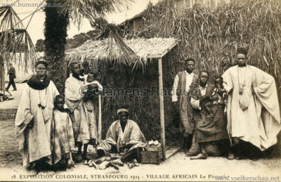 1924 Exposition Coloniale Strasbourg - Village Africain - 18. Le Piroguier