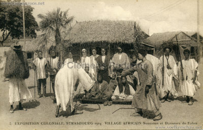 1924 Exposition Coloniale Strasbourg - Village Africain - 5. Soussous et Danseurs de Sabre