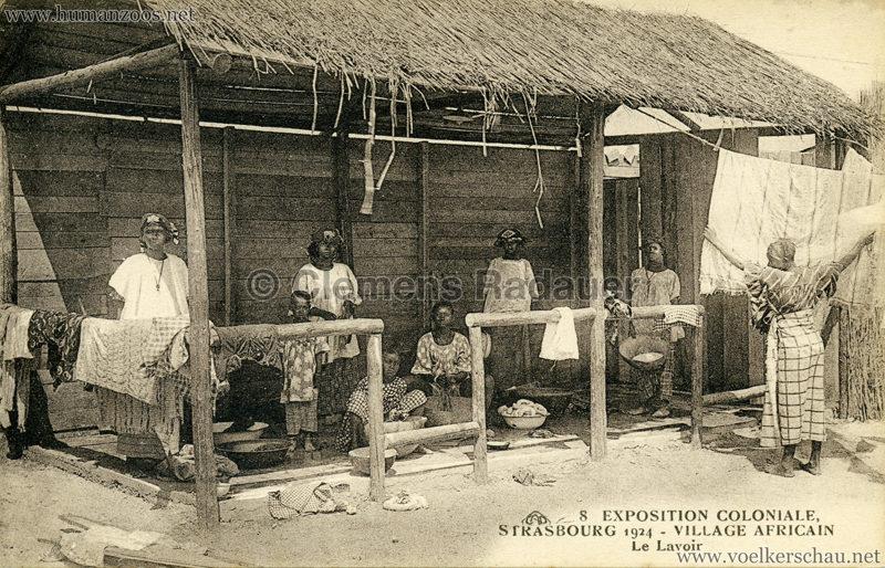 1924 Exposition Coloniale Strasbourg - Village Africain - 8. Le Lavoir