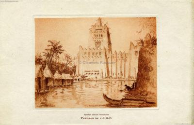 1931 Exposition Coloniale Internationale Paris - Pavillon de L AOF KUNST