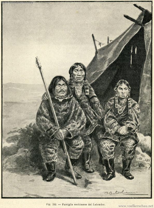 1881 Eskimos - Famiglia eschimese del Labrador