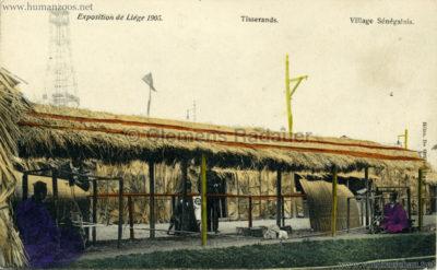 1905 Exposition de Liège - Village Sénégalais - Tisserands bunt