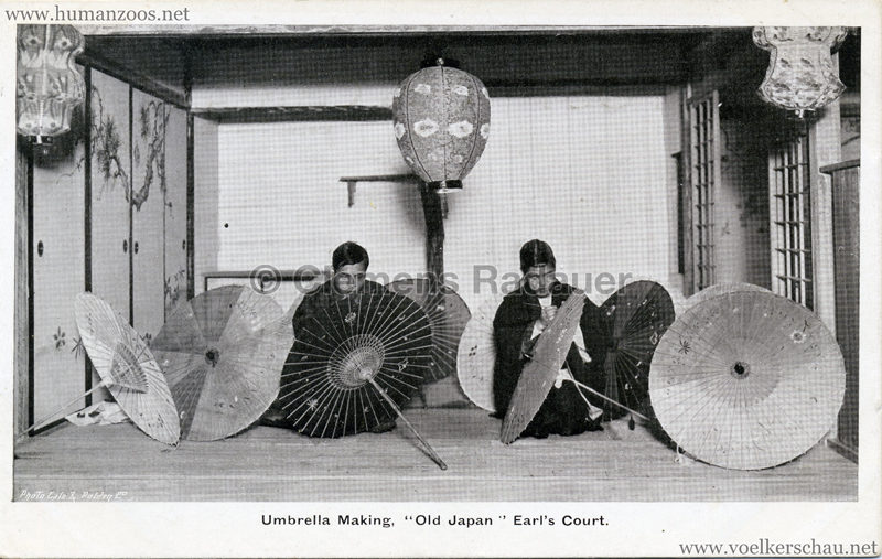 1907 Old Japan at Earl's Court - Umbrella Making