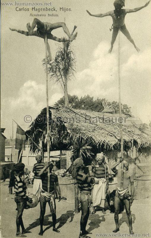 1910 (???) Carlos Hagenbeck Hijos - Acrobates Indios