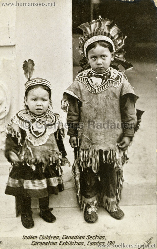 1911 Coronation Exhibition London - 802. Indian Children VS