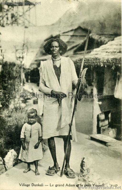 1913 (??) Magic City Village Dunkali - Le grand Adam et le petit Youseff