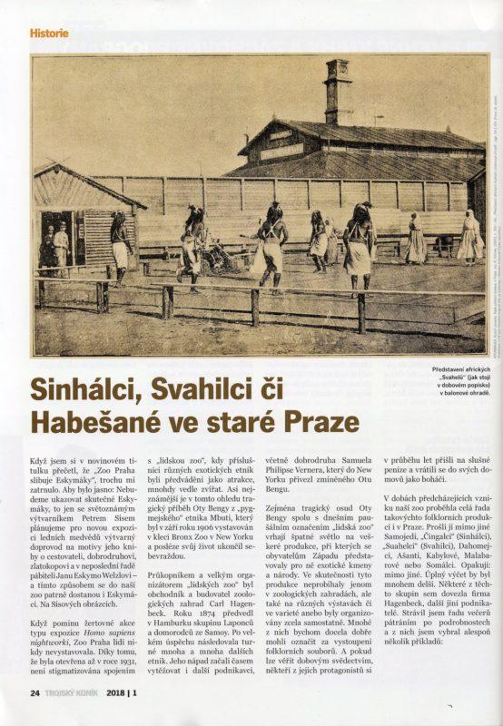 Trojsky Konik Zoo Praha - Human Zoo Artikel 1