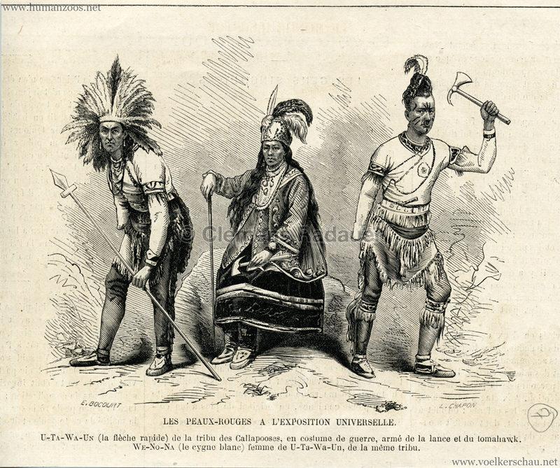 1867.07.27 Exposition Universelle Paris - Les Peaux Rouges a L'Exposition