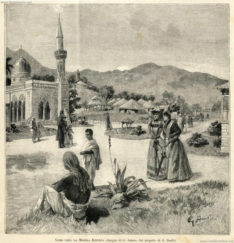 1891 Esposizione Nazionale Italiana Palermo - Nella mostra Eritrea 2