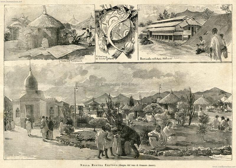 1891 Esposizione Nazionale Italiana Palermo - Nella mostra Eritrea 3
