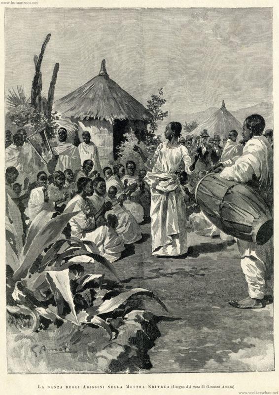 1891.01.24 Illustrazione Italiana - Esposizione Nazionale Italiana Palermo - Nella mostra Eritrea 1
