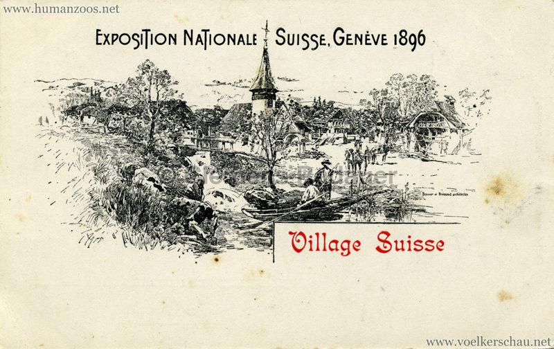 1896 L'Exposition Nationale Suisse Geneve - Village Suisse