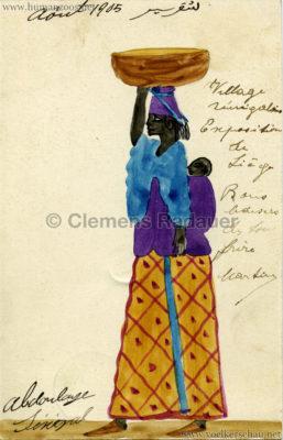 1905 Exposition de Liège - Village Sénégalais ABDOULAYE VS