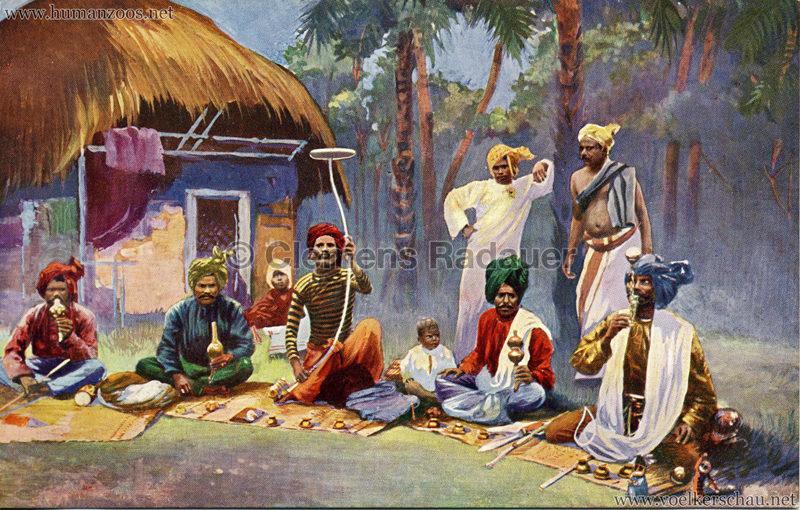 1910:1911:1912 Gustav Hagenbeck's grösste indische Völkerschau der Welt - Fakire coloriert VS