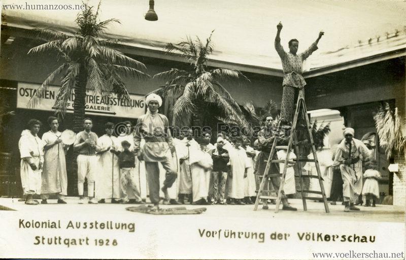 1928 Kolonial-Ausstellung Stuttgart - Vorführung der Völkerschau