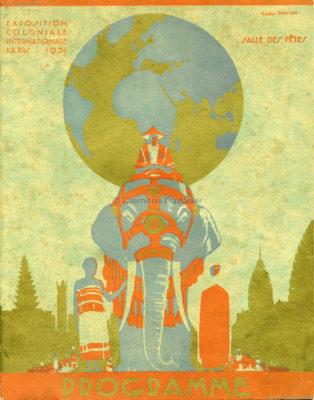 1931 Exposition Coloniale Internationale Paris - Programme Salle des Fetes