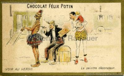 Kriegsbemalung Eingeborener Werbekarte (Chocolat Felix Potin)