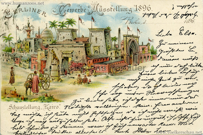 1896 Gewerbe Ausstellung Berlin - Schaustellung Kairo