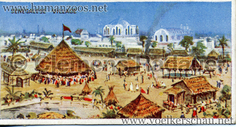 1908 Franco-British Exhibition - Senegalese Village Cigarette Card VS