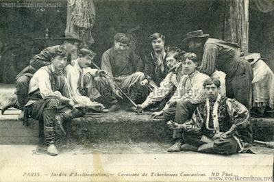 1913 Caravane de Tcherkesses Caucasiens - Jardin d'Acclimatation - Männer