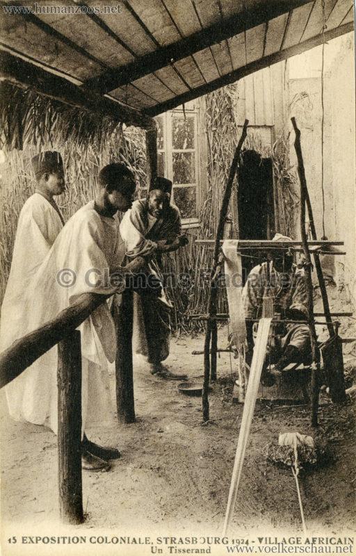 1924 Exposition Coloniale Strasbourg - Village Africain - 15. Un Tisserand