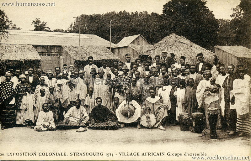 1924 Exposition Coloniale Strasbourg - Village Africain - 20. Groupe d'ensemble