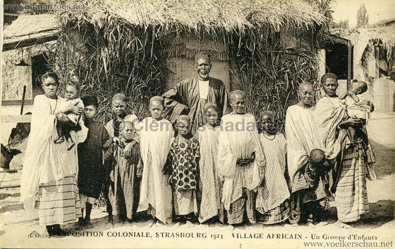 1924 Exposition Coloniale Strasbourg - Village Africain - 3. Un Groupe d'enfants