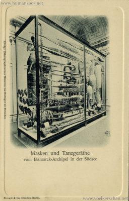 Königl. Ethnographisches Museum im Zwinger zu Dresden - Masken und Tanzgeräthe vom Bismarck-Archipel in der Südsee
