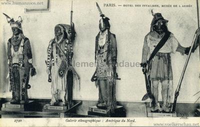 Paris - Hotel des Invalides, Musée de l'Armée. Galerie ethnographique - archipel Salomon. ile de San-Cristobal - ile des Papous - naturel de Bornéo