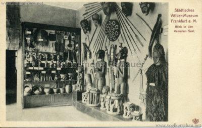 Städtisches Völker-Museum Frankfurt - Kamerun Saal 1906 v