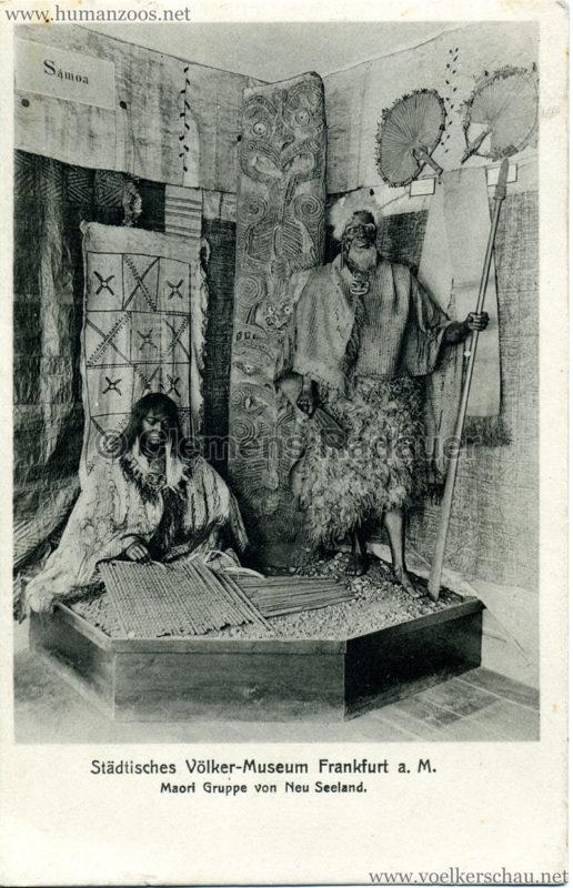 Städtisches Völker-Museum Frankfurt a. M. - Maori Gruppe von Neu Seeland 2