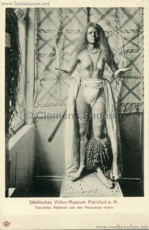 Städtisches Völker-Museum Frankfurt a. M. - Tätowiertes Mädchen von den Marquesas Inseln