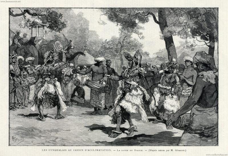 1886 Le Monde Illustre - Les Cynghalais au Jardin d'Acclimatation