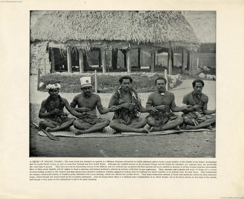 1893 World's Fair Chicago - 1. Singing Fijians