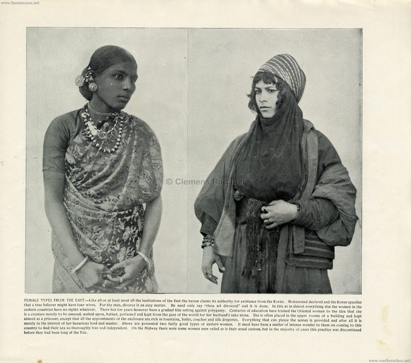 1893 World's Fair Chicago - 11. Female Types of the East
