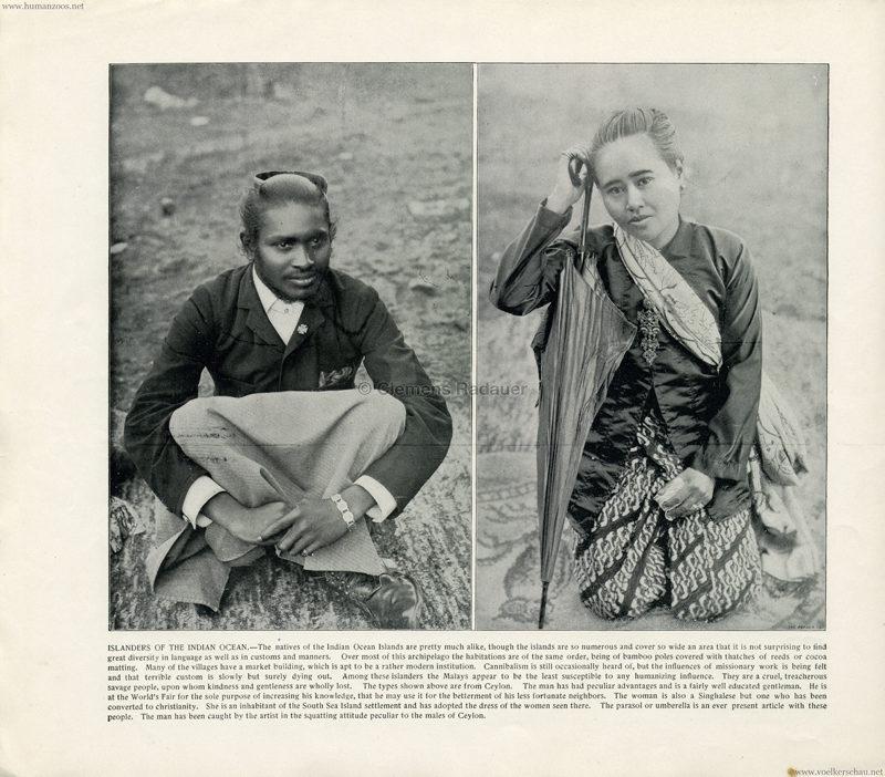 1893 World's Fair Chicago - 12. Islanders of the Indian Ocean