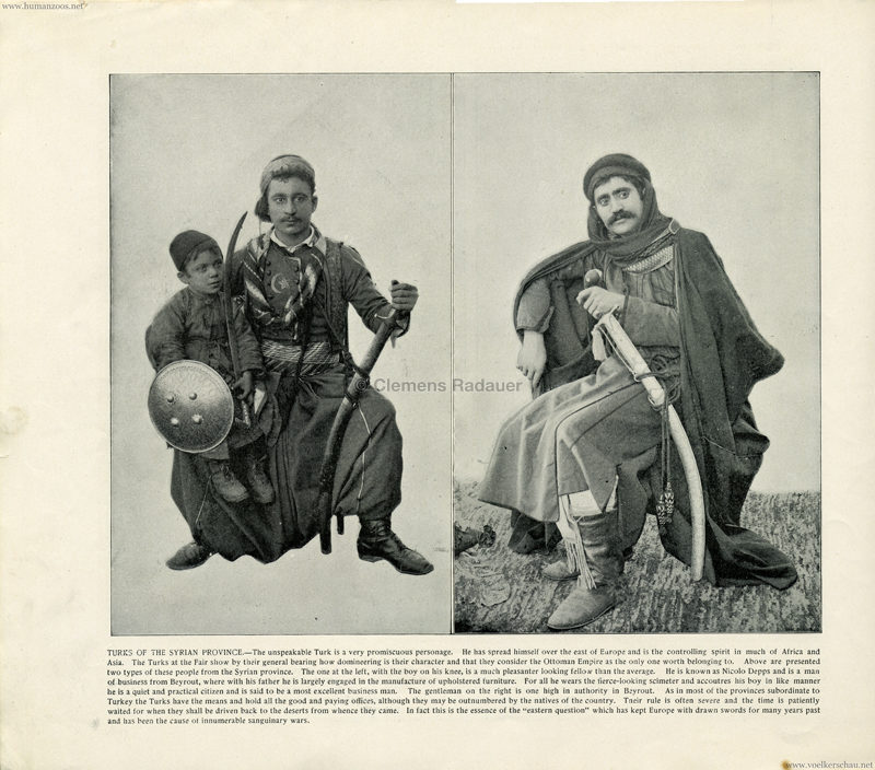 1893 World's Fair Chicago - 14. Turks of the Syrian Province