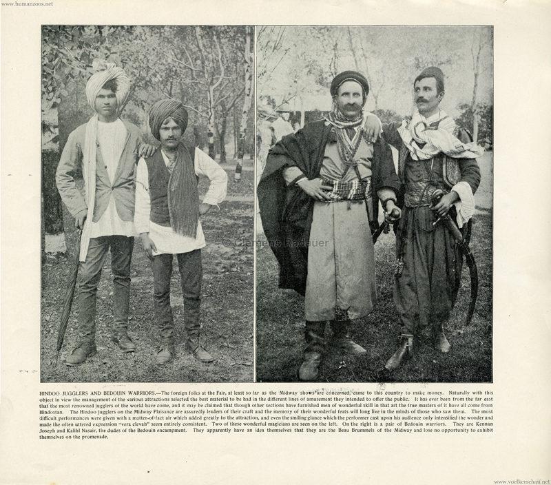 1893 World's Fair Chicago - 15. Hindou Jugglers & Bedouin Warriors