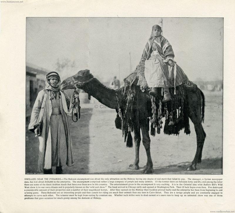 1893 World's Fair Chicago - 4. Dwellers near the Pyramids