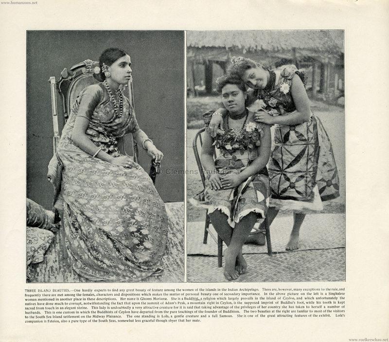 1893 World's Fair Chicago - 7. Three island beauties