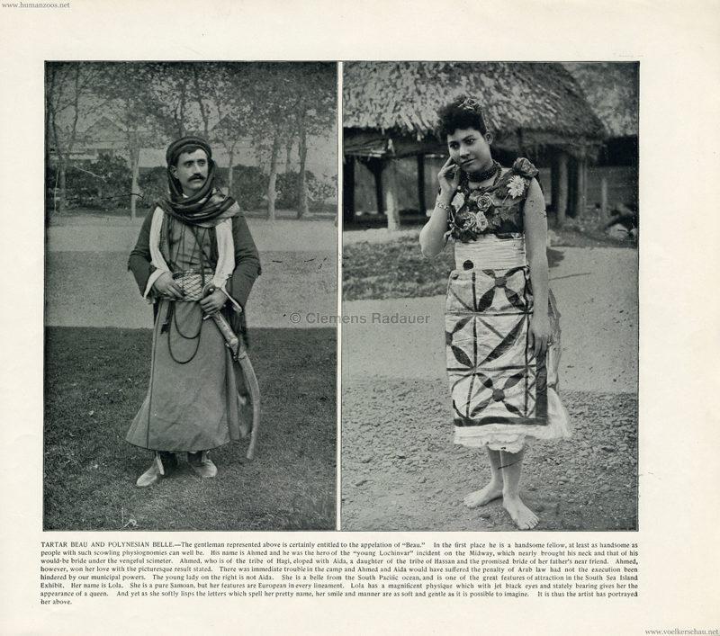 1893 World's Fair Chicago - 9. Tartar Beau & Polynesian belle